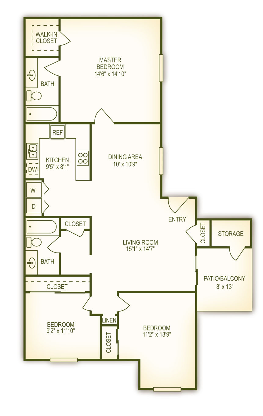 Escondido Rental Floor Plans - Summit Apartments